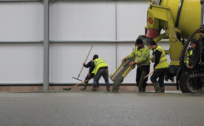concreting industrial floor