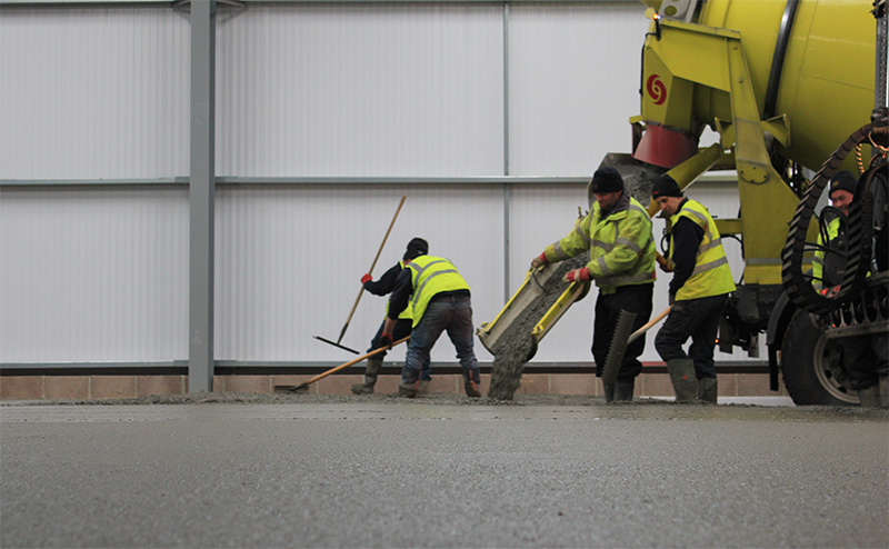 concreting industrial floor